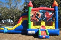 Superheros Multi Colored  5 in 1 Castle WET Combo - UNIT #220