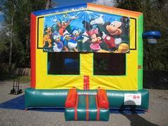 Mickey and Friends  2 in 1 Multi-Colored Bounce w/Hoops - UNIT #112