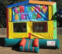 Happy Birthday 2 in 1 Multi-Colored Bounce w/Hoops - UNIT #112