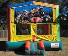 Monster Truck Themed 2 in 1 Multi-Colored Bounce w/Hoops - UNIT #112