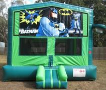 Batman 2 in 1 GREEN Bounce w/Hoops - UNIT #113