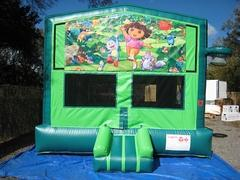 Dora 2 in 1 GREEN Bounce w/Hoops - UNIT #113