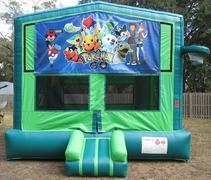Pokemon Go 2 in 1 GREEN Bounce w/Hoops - UNIT #113