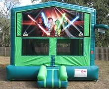 Star Wars Legos 2 in 1 GREEN Bounce w/Hoops - UNIT #113