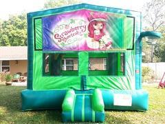 Strawberry Shortcake 2 in 1 GREEN Bounce w/Hoops - UNIT #113