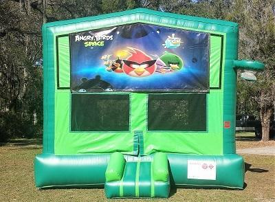 Angry Birds In Space 2 in 1 Green Bounce w/Hoops - UNIT #113