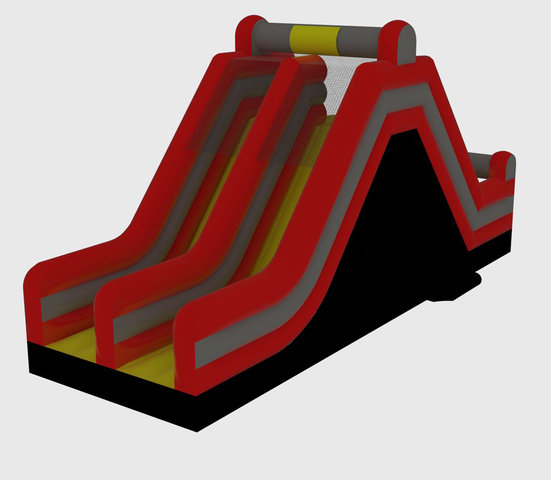 16' Dual Lane Rock Climb Slide