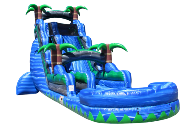 22 Ft Blue Crush Inflatable Water Slide