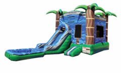 Blue Crush Combo Bounce House - Wet