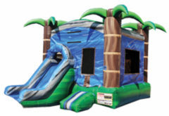 Blue Crush Combo Bounce House - Dry