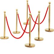 Gold Chrome Stanchion Pair