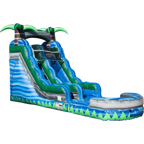 15ft Blue Crush Water Slide