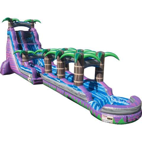 22 ft Purple Crush Water Slide w/ Slip and Slide