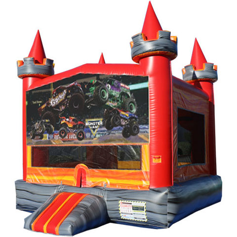 Monster Trucks Medieval Castle Fun Jump