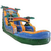 16ft tiki plunge water slide