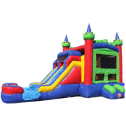 Trippy falls Dual Lane Castle Water Slide Combo