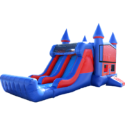 Castle Dual Lane Water Slide Combo