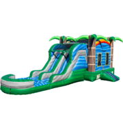 Tropical Dual Lane Water Slide Combo