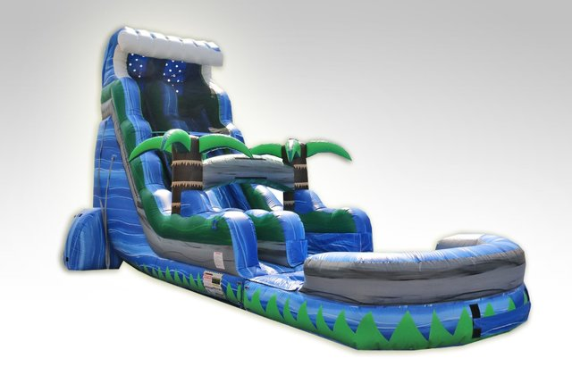 24ft Tropical Tsunami Water Slide