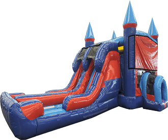Castle Dual Lane Combo Water Slide