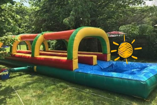 37' Slick Double Lane Slip & Slide