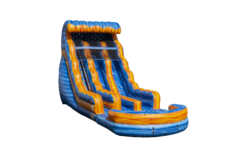 18FT Fire & Ice Double Lane Slide (Wet Use)