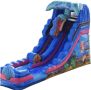 Mermaid Plunge 16' foot Wet or Dry Slide