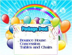 Bouncer Concession Tables & Chairs Package