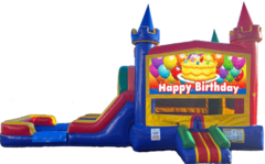 Birthday Jolly Castle Wet or Dry Combo