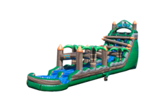 Tiki Falls 22 foot Dual Lane Water Slide