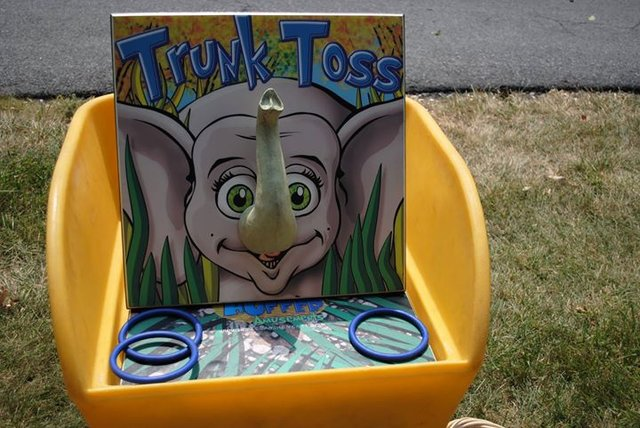 Trunk Toss Carnival Game