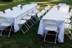 tent, table and chair rental
