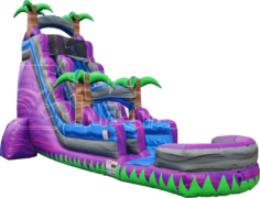 Giant 22 Foot Tall Waterslide - 40 Feet Long