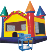 Rainbow Castle with Snow Cone Machine