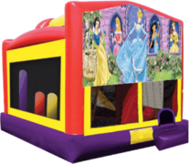 Disney Princess Combo Obstacle Course Bounce House 20x16 with Slide, Basketball Hoop and Tunnel