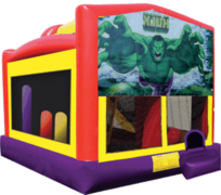 Hulk Combo Obstacle Bounce House 20x16 with Slide, Basketball Hoop and Tunnel
