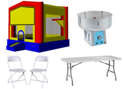 Fun House 13x13 Deal with Cotton Candy Machine 16 Chairs and 2 Tables