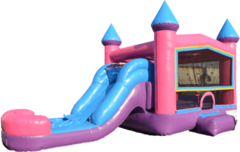 Pink Combo 4 in 1 Bouncer Waterslide