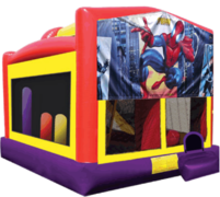 Spiderman Large Combo Obstacle Course Bounce House 20x16 with Slide and Hoop