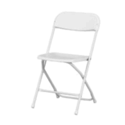 Chairs - White fold up