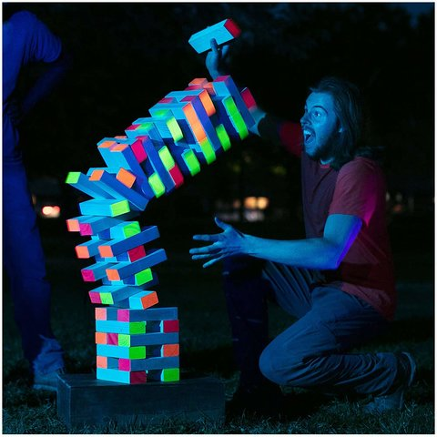 Giant Black Light Tumble Tower