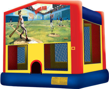 Bounce House with hoop Baseball