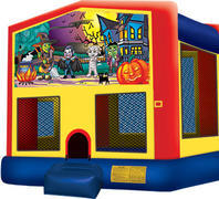 Bounce House with hoop Happy Haunting