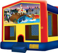 Bounce House with hoop Knights and Dragons