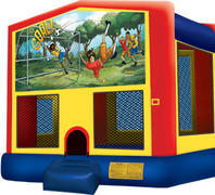 Bounce House with hoop Soccer