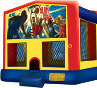 Bounce House with hoop Basketball