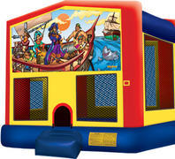 Bounce House with hoop Pirates