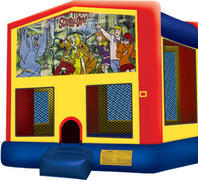 Bounce House with hoop Scooby Doo