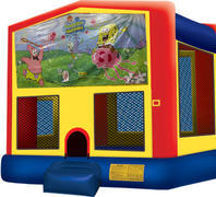 Bounce House with hoop Sponge Bob