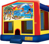 Bounce House with hoop Tropical Paradise